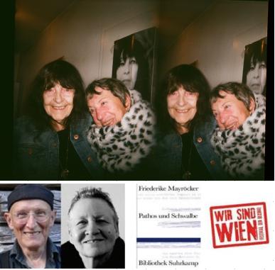 Friederike Mayröcker, Linde Waber, Bodo Hell, Liesl Ujvary, Buchcover, Kooperation mit dem Wir sind Wien.Festival