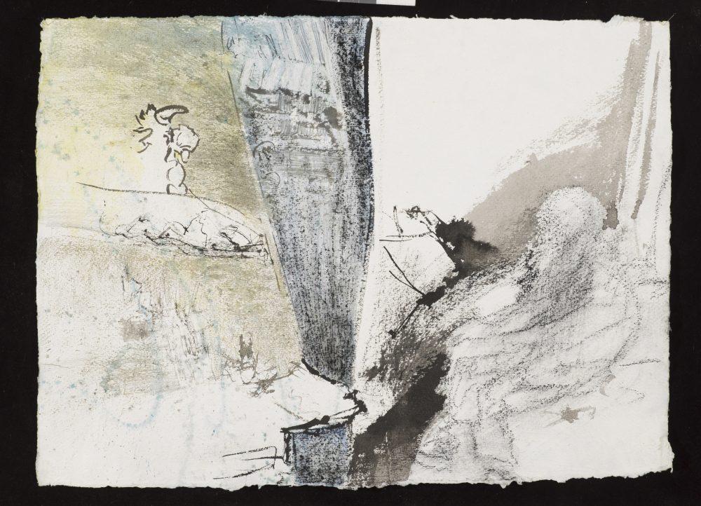 Atelierzeichnung Kurt Schwertsik, 2018